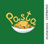 pasta vector illustration | Shutterstock .eps vector #143986963
