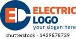 electric logo design template... | Shutterstock .eps vector #1439878739