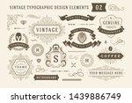 vintage typographic design... | Shutterstock .eps vector #1439886749