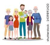 happy big family portrait. mom... | Shutterstock . vector #1439891420