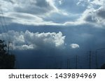 atmosphere of the sky and rain... | Shutterstock . vector #1439894969