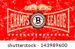 retro boxing champs league... | Shutterstock .eps vector #143989600