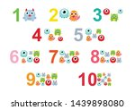 numbers for children with... | Shutterstock .eps vector #1439898080