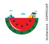watermelon world. bright travel ... | Shutterstock .eps vector #1439901269