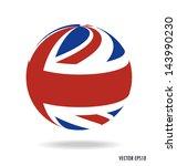 british flag. vector... | Shutterstock .eps vector #143990230