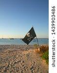 pirate flag skull and cross... | Shutterstock . vector #1439903486