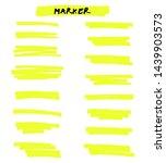 vector yellow highlighter brush ... | Shutterstock .eps vector #1439903573
