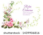 wedding invite with bouquet of...   Shutterstock .eps vector #1439906816