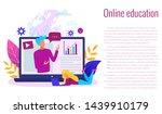 concept of online education... | Shutterstock .eps vector #1439910179