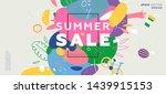 summer sale trendy banner... | Shutterstock .eps vector #1439915153