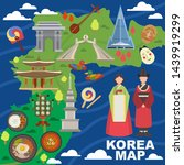 korea map vector korean... | Shutterstock .eps vector #1439919299
