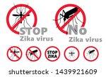 stop malaria no mosquito bite... | Shutterstock .eps vector #1439921609