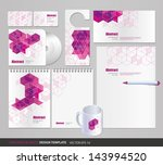 pink geometric backgrounds | Shutterstock .eps vector #143994520