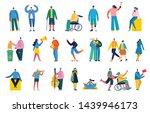 vector illustration in a flat... | Shutterstock .eps vector #1439946173
