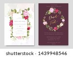 beautiful wedding and... | Shutterstock .eps vector #1439948546