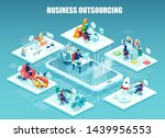 global outsourcing  distributed ... | Shutterstock .eps vector #1439956553