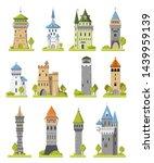 cartoon castle vector fairytale ... | Shutterstock .eps vector #1439959139