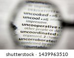 Small photo of The word or phrase Uncooperative in a dictionary