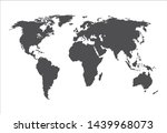 vector gray world map... | Shutterstock .eps vector #1439968073