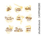honey sketches set  bee hive ... | Shutterstock .eps vector #1439968280