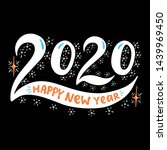 2020 happy new year. poster... | Shutterstock .eps vector #1439969450