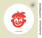 funny face icon isolated on...