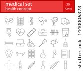 medical icons set. healthcare... | Shutterstock .eps vector #1440006323