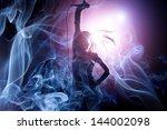 female singer on the stage...   Shutterstock . vector #144002098