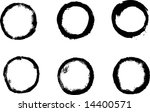 grungy circle collection | Shutterstock .eps vector #14400571