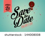 Save The Date Template Vector...