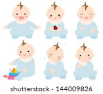 baby illustration variation | Shutterstock . vector #144009826