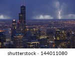 Skyline Chicago With Storm In ...