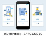 buy earn use onboarding screens ... | Shutterstock .eps vector #1440123710