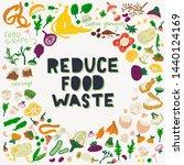 reduce food waste hand...   Shutterstock .eps vector #1440124169