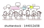 people and social network | Shutterstock .eps vector #144012658