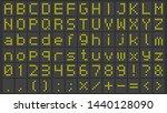 led display font. digital... | Shutterstock .eps vector #1440128090