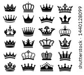 royal crown silhouette. king... | Shutterstock .eps vector #1440128099