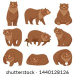 Cartoon Brown Bear. Grizzly...