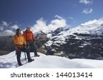 Two Male Mountain Climbers On...