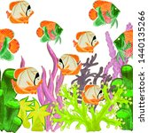 watercolor seamless pattern... | Shutterstock . vector #1440135266