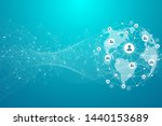 global network connection... | Shutterstock . vector #1440153689