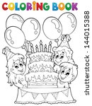 Coloring Book Kids Party Theme...