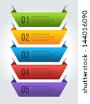 vector step options banners and ... | Shutterstock .eps vector #144016090