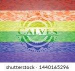calves emblem on mosaic... | Shutterstock .eps vector #1440165296