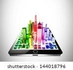 tablet city | Shutterstock . vector #144018796