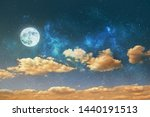 night sky background with stars ... | Shutterstock . vector #1440191513