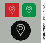 rounded location stroke vector...