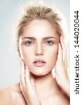beautiful model with natural...   Shutterstock . vector #144020044