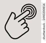 hand tap stroke vector icon