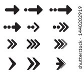 vector arrow set. arrow icons | Shutterstock .eps vector #1440202919